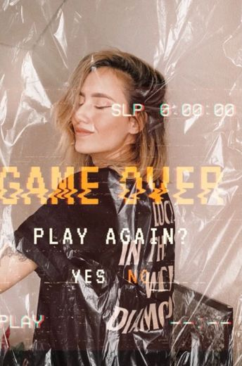 gameover girl tumblraesthetic vintage Image by loyaneo