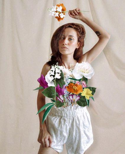 Foto com flores