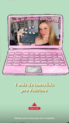 Ideias de vídeos pra gravar (1 mês de conteúdo) - YouTube