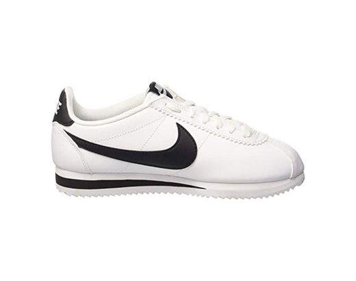 Nike Wmns Classic Cortez Leather, Zapatillas Para Mujer, Blanco