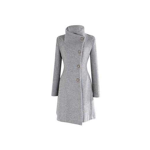Logobeing Chaqueta Abrigo Mujer Invierno Talla Grande Suéter Abrigo Largo para Mujer