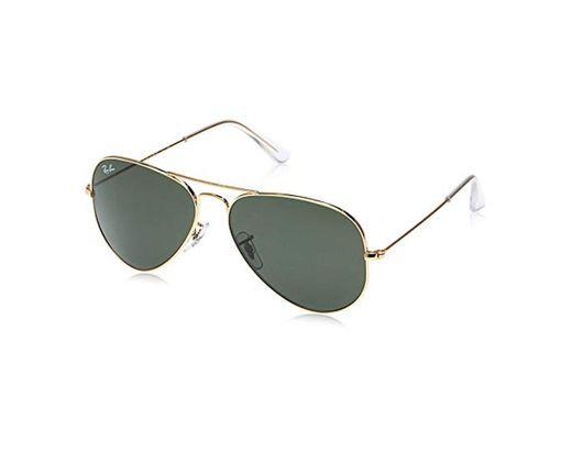 Rayban - Gafas de sol Aviador Aviator Large Metal, Gold