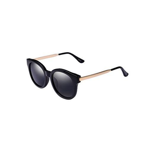 Cielo moderno Gafas Gafas de Sol Polarizadas Grises Antiguas Anti