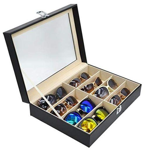 8 Girds Caja del Almacenamiento de Gafas 33.5 x 24.5 x 8.5cm