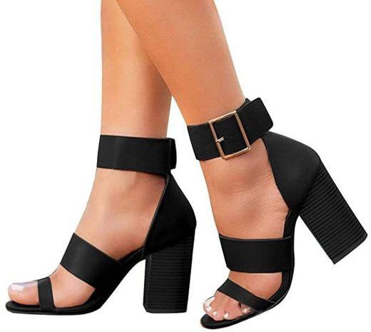 Manooby Sandalias Chanclas de Tacón Alto para Mujer Zapatos de Verano