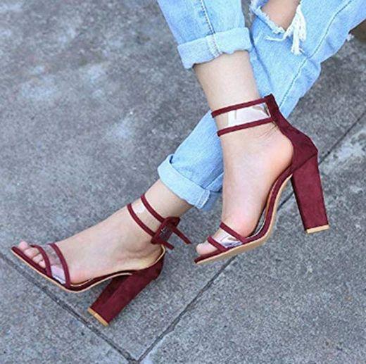 QFYD FDEYL Zapatos Tacón Bajo De Aguja para Mujeres