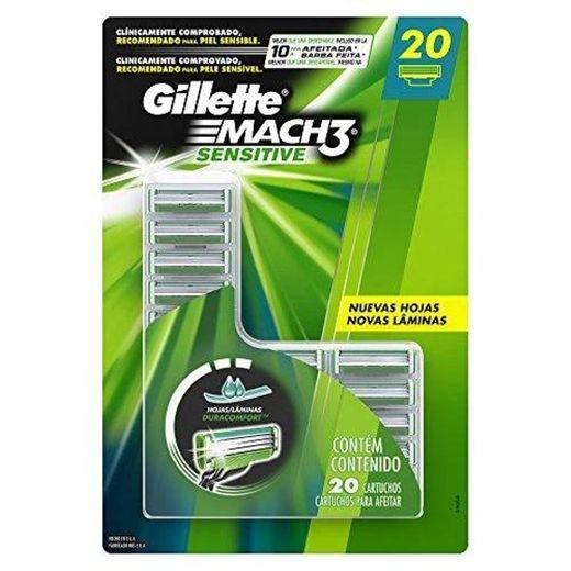 Carga para Aparelho de Barbear Gillette Mach3 Sensitive