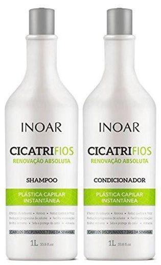 Inoar Kit shampoo e condicionador CicatriFios Plástica Capil