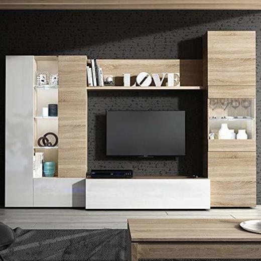 Habitdesign 016642F - Mueble de Comedor con Leds