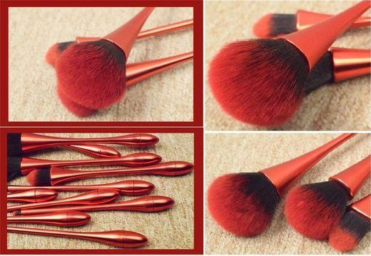 10pcs Nueva cáliz cintura profesional Make Up juego de pinceles de maquillaje