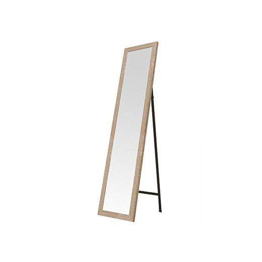 Espejo de pie de Madera MDF Beige nórdico para Dormitorio de 37