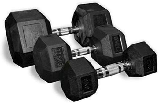 POWRX - Mancuernas hexagonales 25 kg Set (2 x 12,5 kg) -