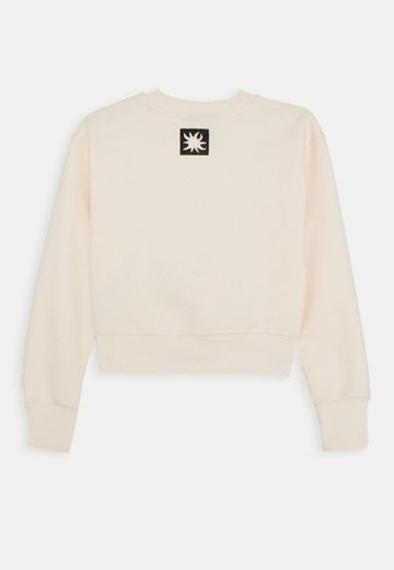 Scotch & Soda Cropped Sweat with Knot Detail and Theme Artworks Sudadera