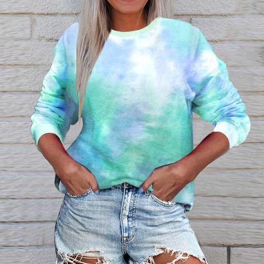 Hoodie Suéter Mujeres Tie Dyed Sweatshirt Pullover Shirts Oversize Moletom Feminino Plus Size Cute Sweat Shirts Streetwear Asiansizes 3