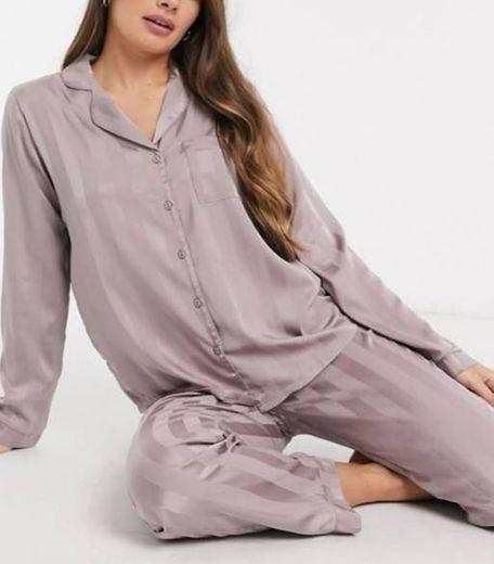 Voqeen Mujer Atractivo Pijamas de Encaje y Tul Atractivo Bodysuit Lencería Halter