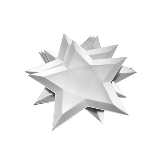 8 unids Platos de Papel Estrella Disponible para Fiestas de Cumpleaños