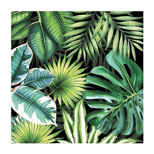 Ambiente Servilletas 33 centímetros hojas tropicales – Paquete de 20