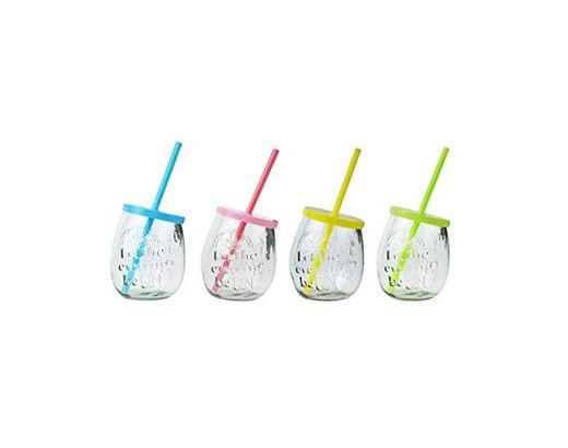 YöL 4 Vasos de Ginebra en Relieve para Bebidas