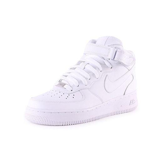Nike Air Force 1 Mid '07 Zapatillas para Hombre, Blanco, Talla EU