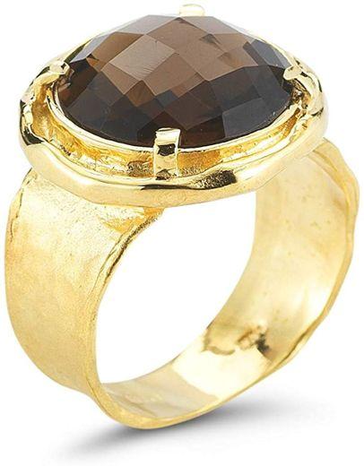 14K Yellow Gold 6ct TGW Smokey Topaz Ring: Jewelry - Amazon.com