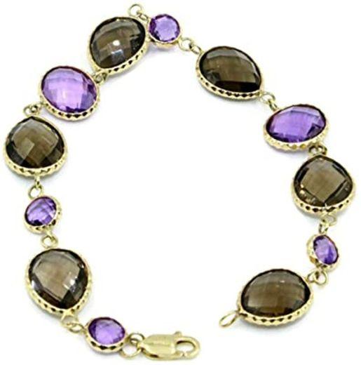 Smokey Purple Amethyst Gemstone Bracelet B01G44L2X4