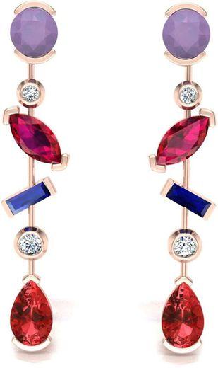 Certified IJ Colour Ameythyst Designer Jewellery B083J8WRLH