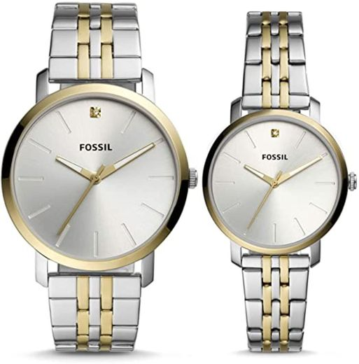 His and Her Lux Luther Three-Hand Two-Tone ... - Amazon.com