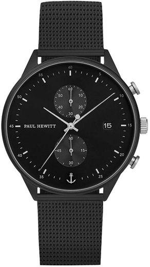 PAUL HEWITT Chrono Line Black Sunray ... - Amazon.com