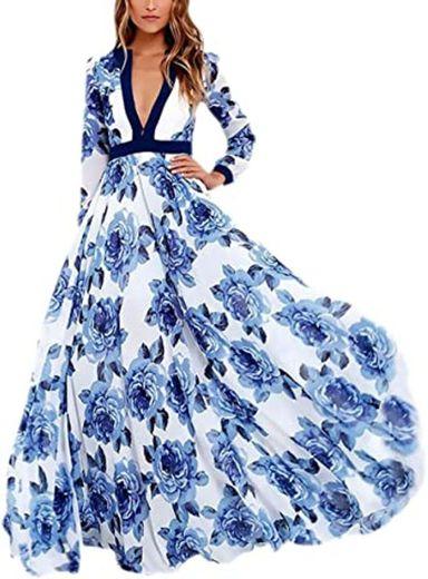 Vestidos Elegante Vestido Imprimir Entallados