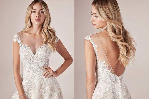 Amazon.com: ONEDress Modest Lace Appliques Wedding Dresses ...