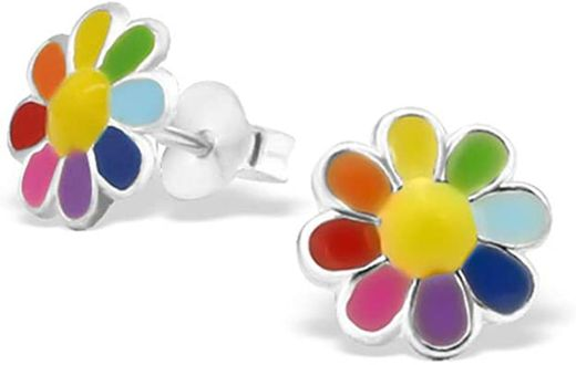 Colourful Flower Earrings Cute Multi Colour Earrings ... - Amazon.com
