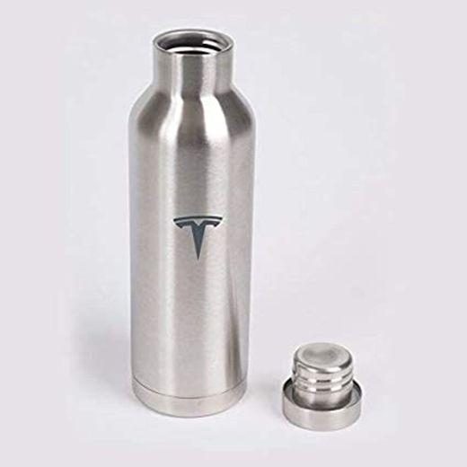 Tesla Motors Silver Stainless Bottle B01EBBAPIU