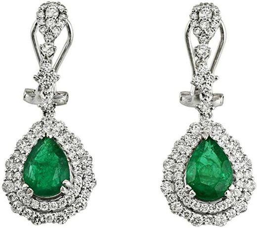 esmeralda Zambia diamantes oro blanco