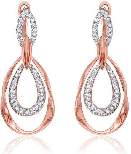 TJD Pendientes colgantes diamantes naturales