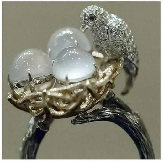 Women's Men's Ring Fashion Gothic Natural Oval Opal Stone