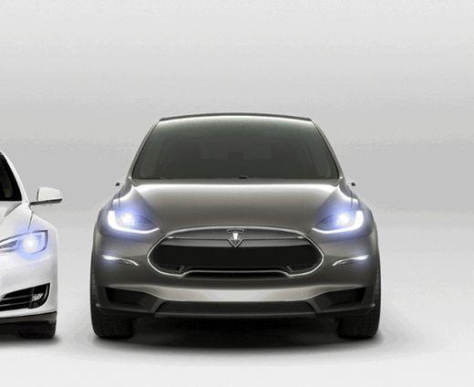 Tesla Model X Wings falcon silver