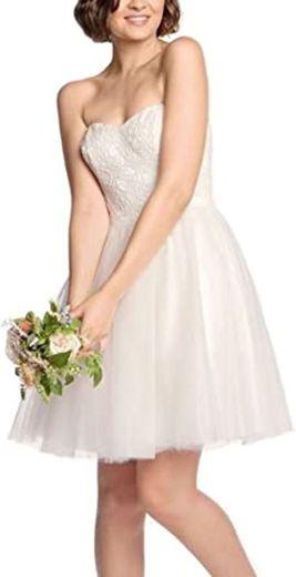 Reúne y vestido de David Tutera Wallace 560 crema ... - Amazon.com
