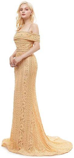 Leyidress Off Shoulder Mermaid Evening Dresses ... - Amazon.com