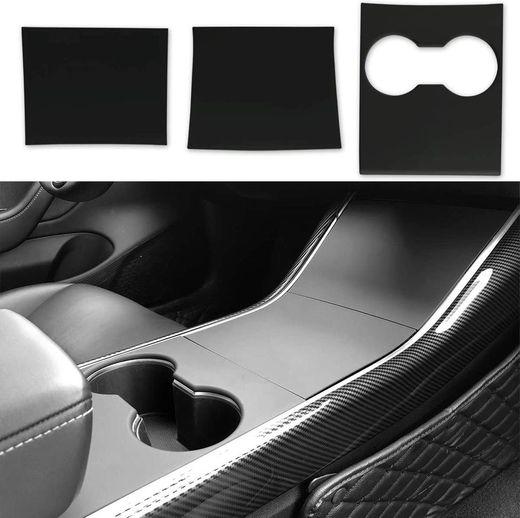 Tesla Model 3 Model Y Center Console Wrap ABS Matte Black