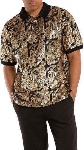 Vibes men's Printed Pique Polo Shirts at Amazon Men's