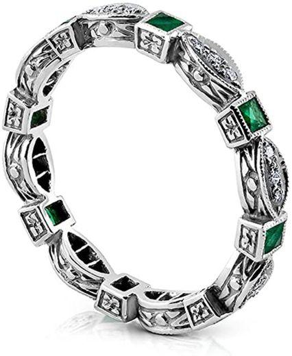 White Diamond Green Emerald Wedding B00ISHCOOC amazon