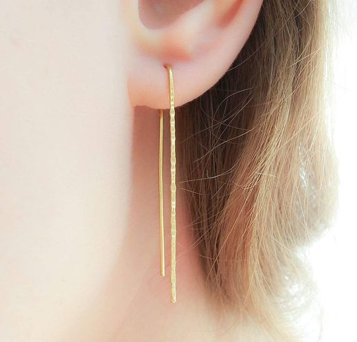 Gold Filled Long Threader Earrings Minimalist ... - Amazon.com