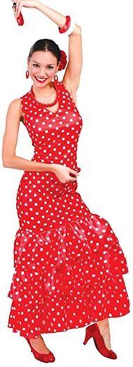 Ladies Sexy Flamenco Dancer Red/White Polka Dot Spanish ...