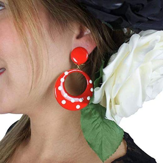 Flamenco Lunares aretes Originales