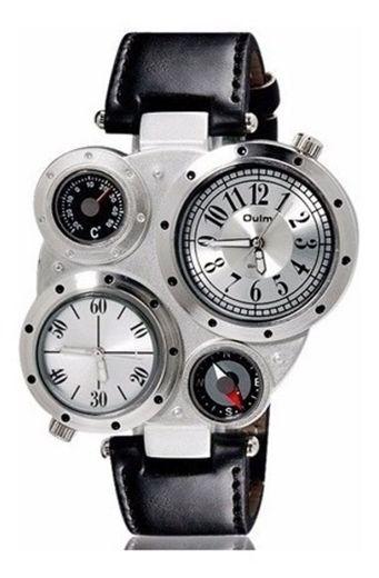 Reloj oulm luxury militar con termometro y brujula byteshop - Sears