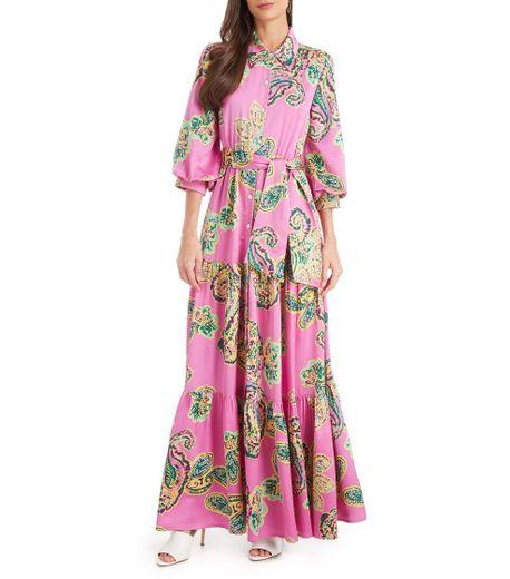 Reina Diaz vestido largo floral mujer