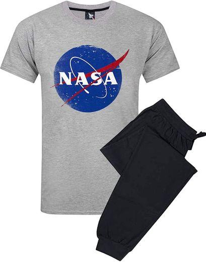 Nasa Espacial Hombres del Logotipo de Pijama Salón Conjunto ...