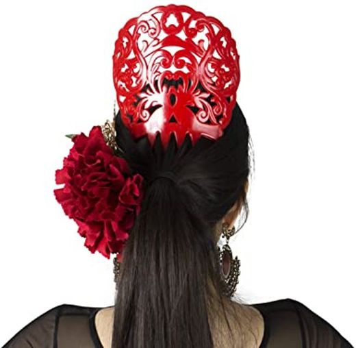 Ole Flamenco rojo peine B076C5244X