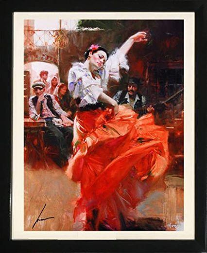 "Amazon.com: ""Flamenco in Red"" by Pino (Framed Figurative Fine Art)"