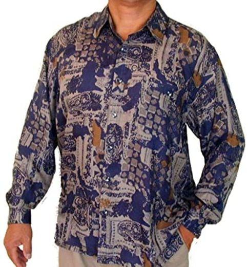 SURPRISE Men's Printed 100% Silk Shirt # 127 at Amazon Men's ...